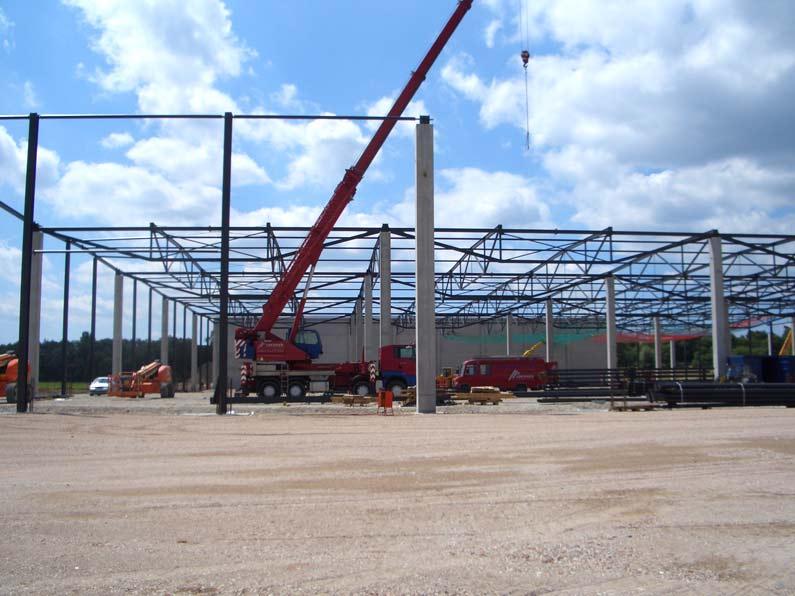 Neubau Zentrallager mit Verwaltungsgebäude